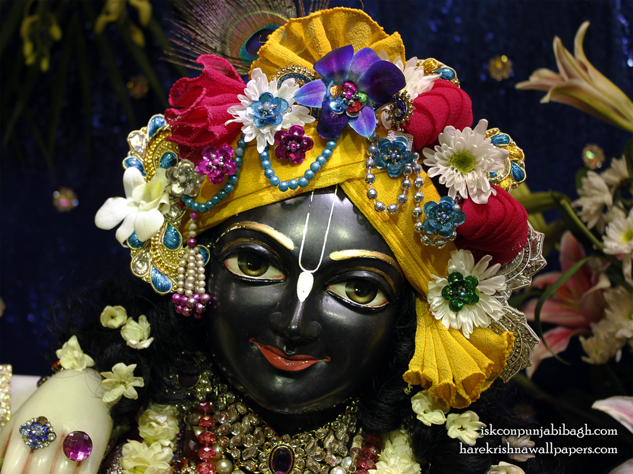 Sri Krishna Close up Wallpaper (004) Size 1280x960 Download