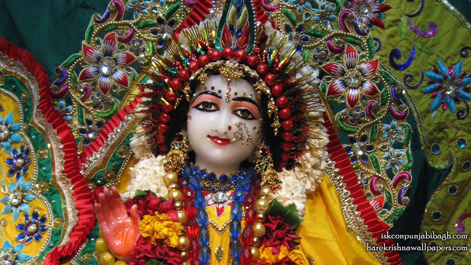 Sri Radha Close up Wallpaper (004) Size 1600x900 Download