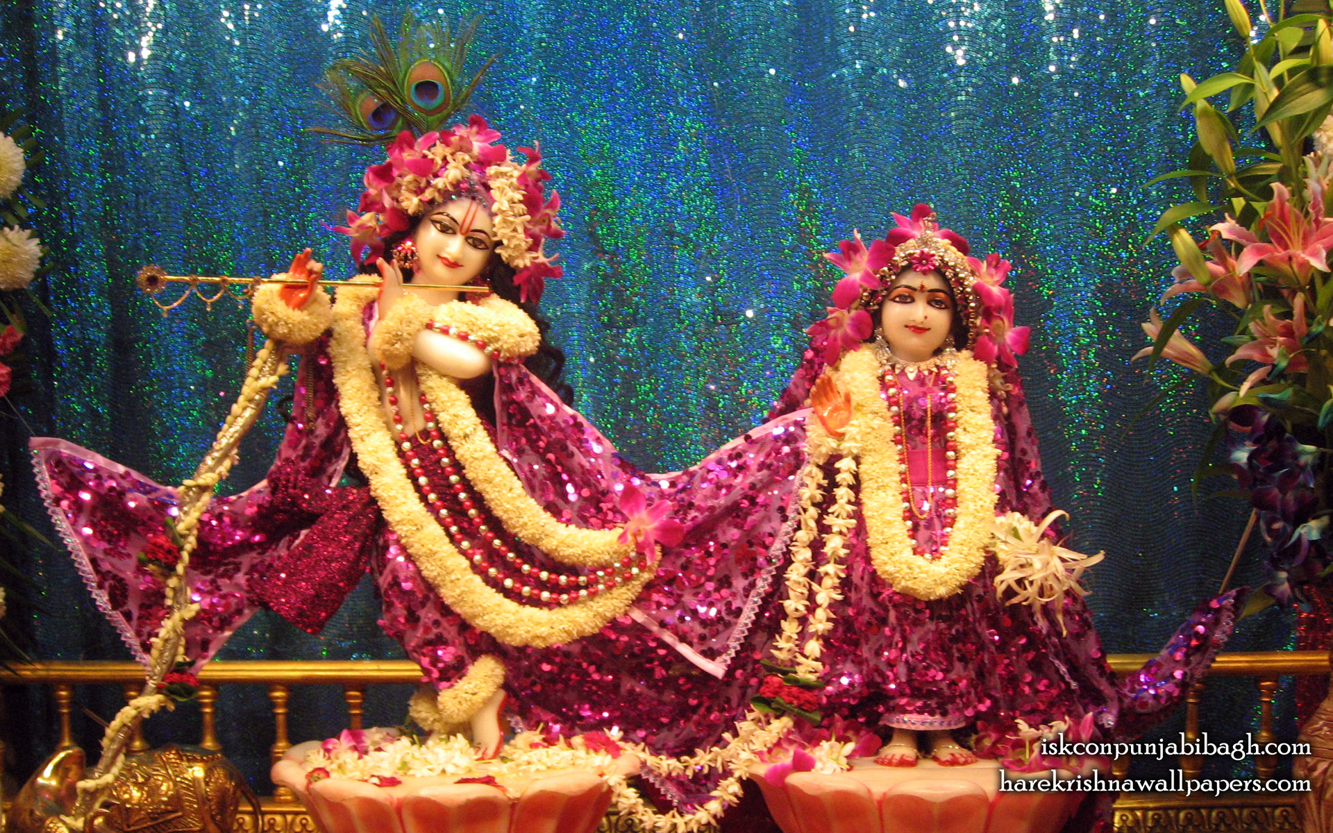 Sri Sri Radha Radhikaraman Wallpaper (004) Size 1920x1200 Download