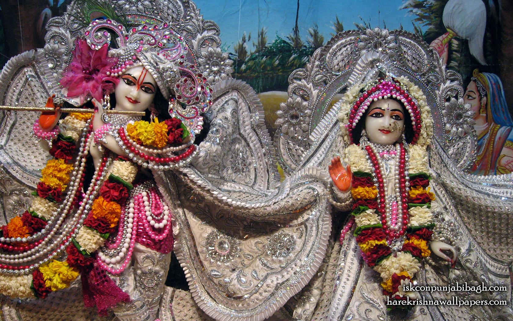 Sri Sri Radha Radhikaraman Close up Wallpaper (004) Size 1680x1050 Download