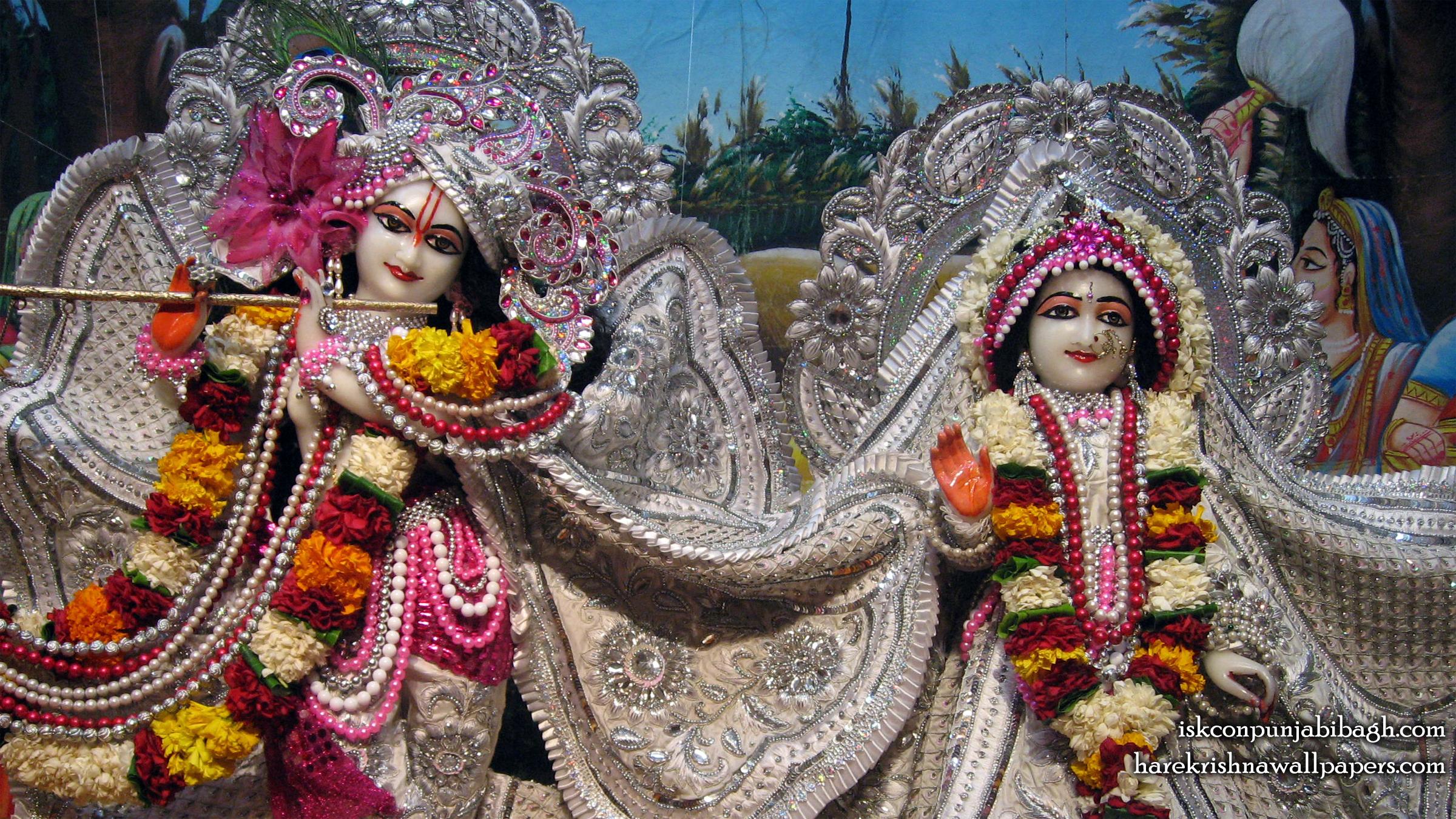 Sri Sri Radha Radhikaraman Close up Wallpaper (004) Size 2400x1350 Download