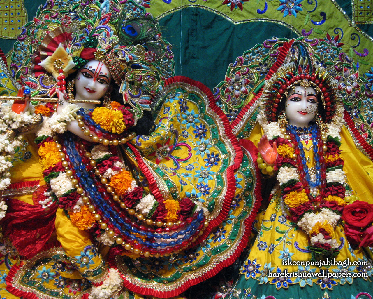 Sri Sri Radha Radhikaraman Close up Wallpaper (005) Size 1280x1024 Download