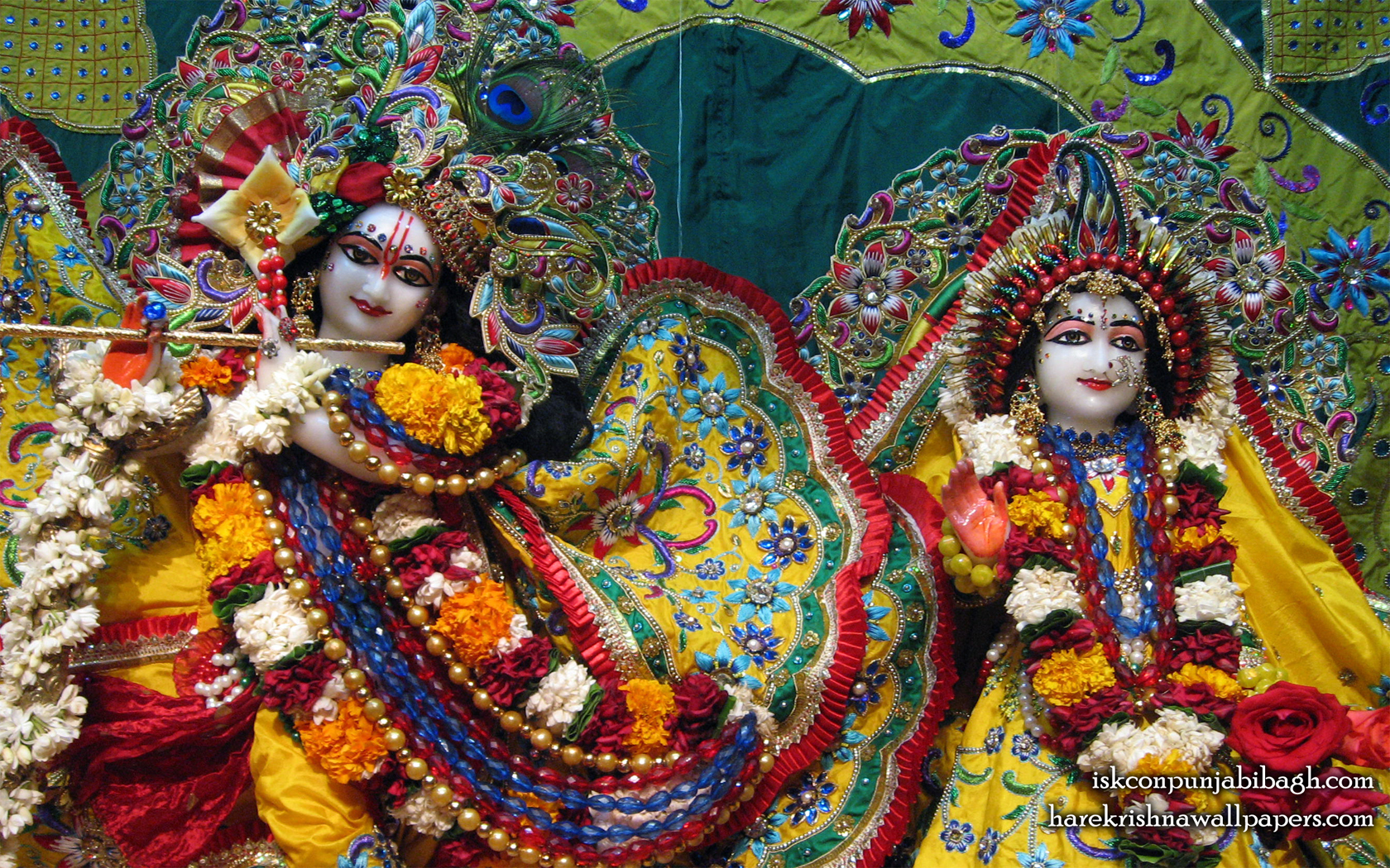Sri Sri Radha Radhikaraman Close up Wallpaper (005) Size 1680x1050 Download