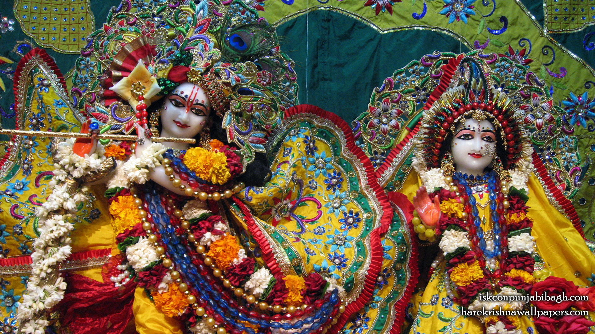 Sri Sri Radha Radhikaraman Close up Wallpaper (005) Size 1920x1080 Download