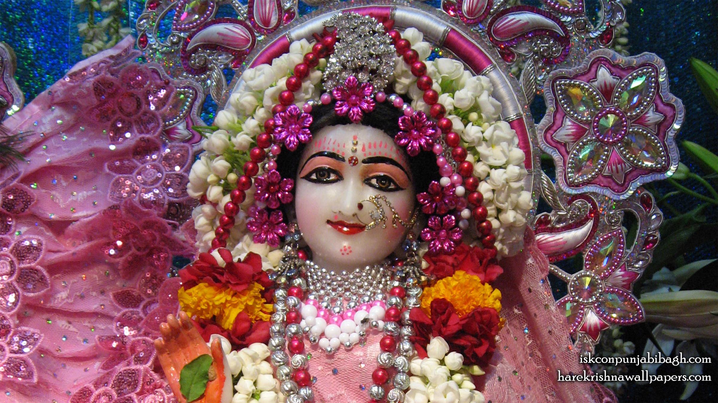 Sri Radha Close up Wallpaper (007) Size 2400x1350 Download