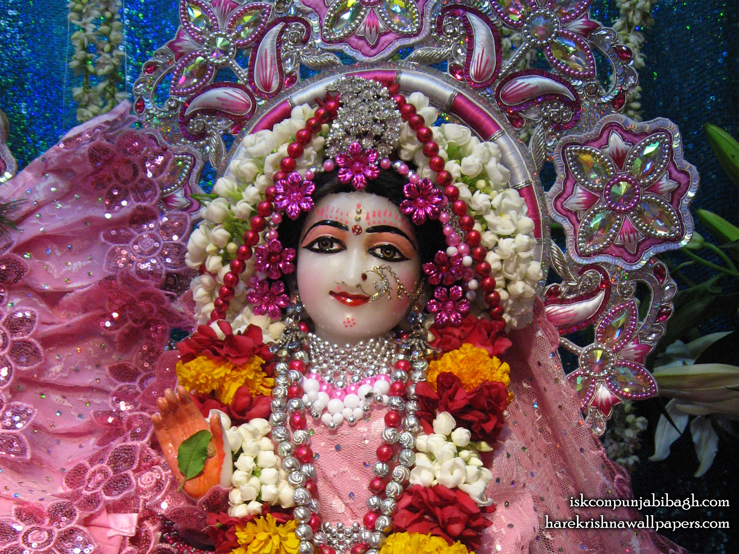Sri Radha Close up Wallpaper (007) Size 2400x1800 Download