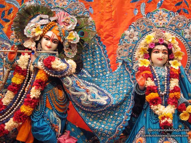 Sri Sri Radha Radhikaraman Close up Wallpaper (007)