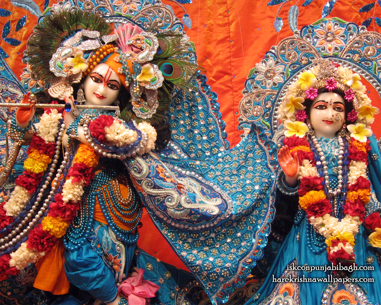 Sri Sri Radha Radhikaraman Close up Wallpaper (007) Size 1280x1024 Download