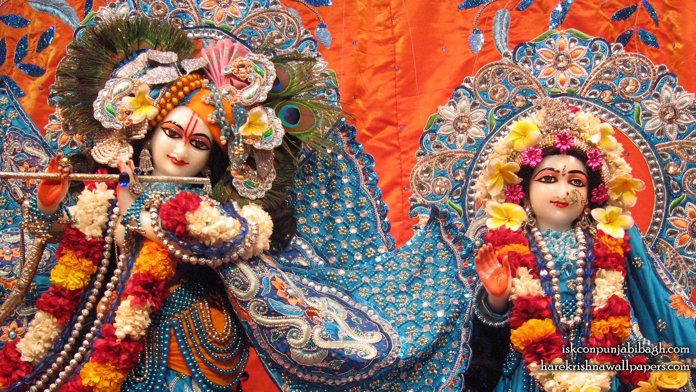 Sri Sri Radha Radhikaraman Close up Wallpaper (007) Size 2400x1350 Download