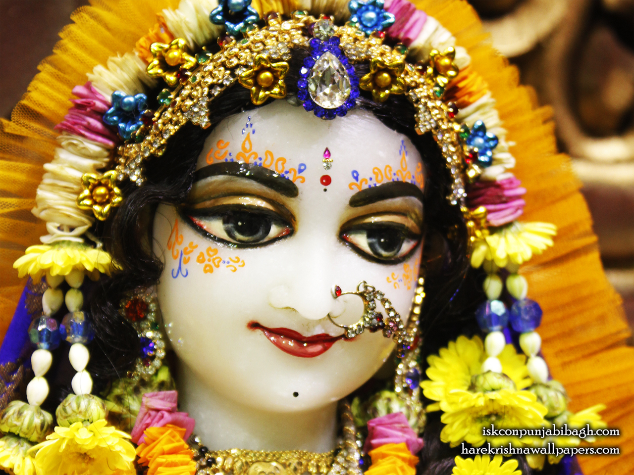 Sri Radha Close up Wallpaper (008) Size 1280x960 Download