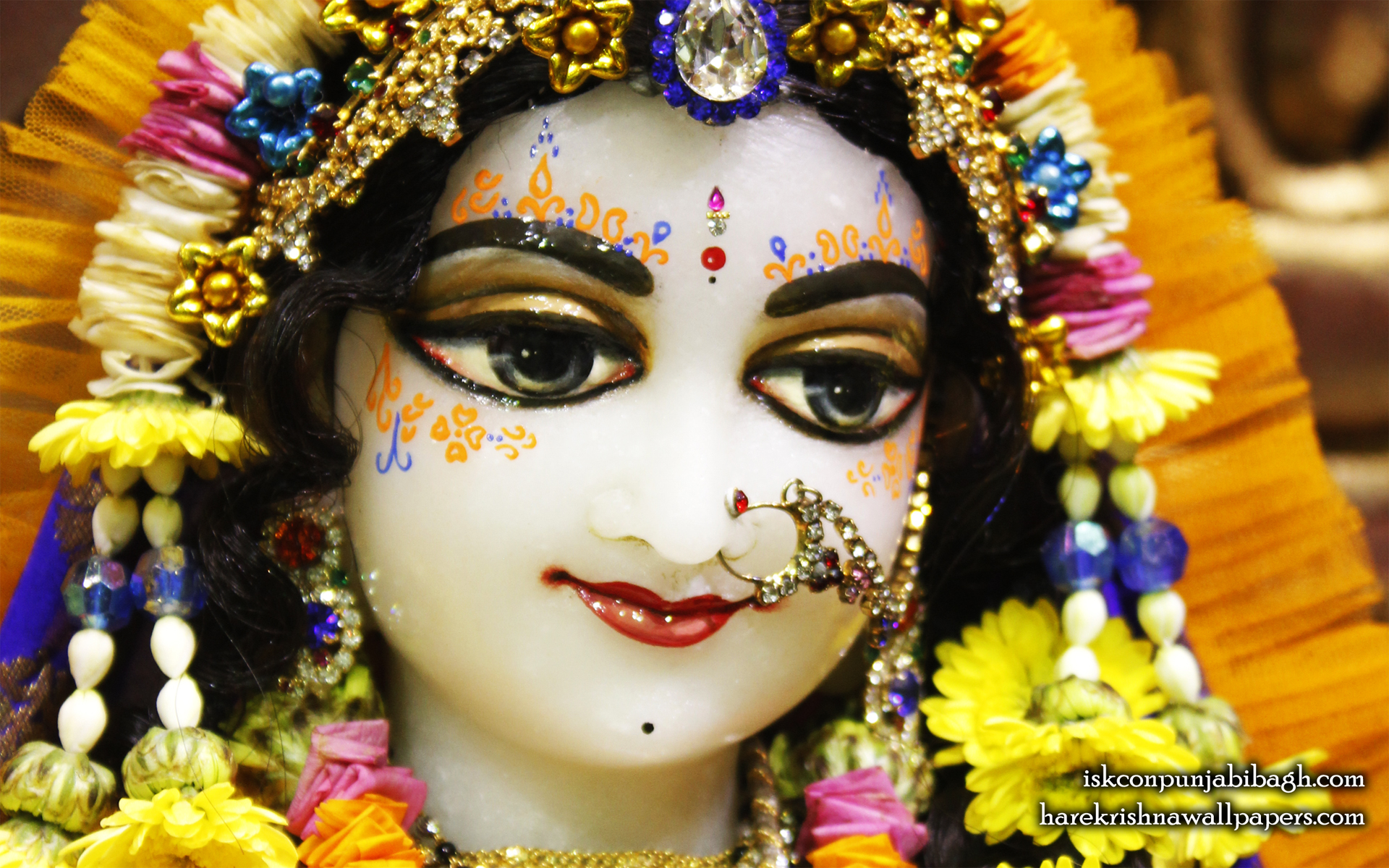 Sri Radha Close up Wallpaper (008) Size 1920x1200 Download