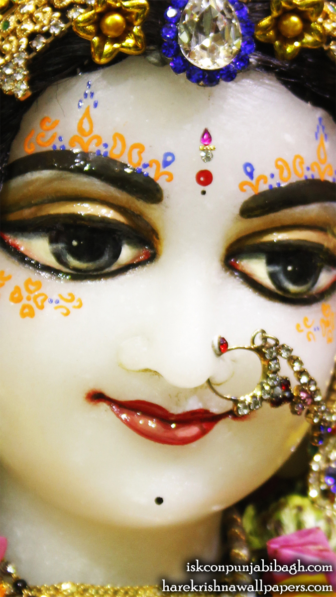 Sri Radha Close up Wallpaper (008) Size 675x1200 Download