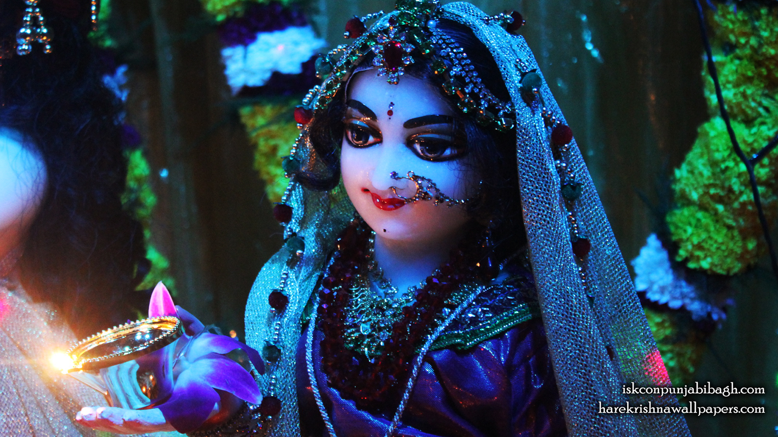 Sri Radha Close up Wallpaper (010) Size 1600x900 Download