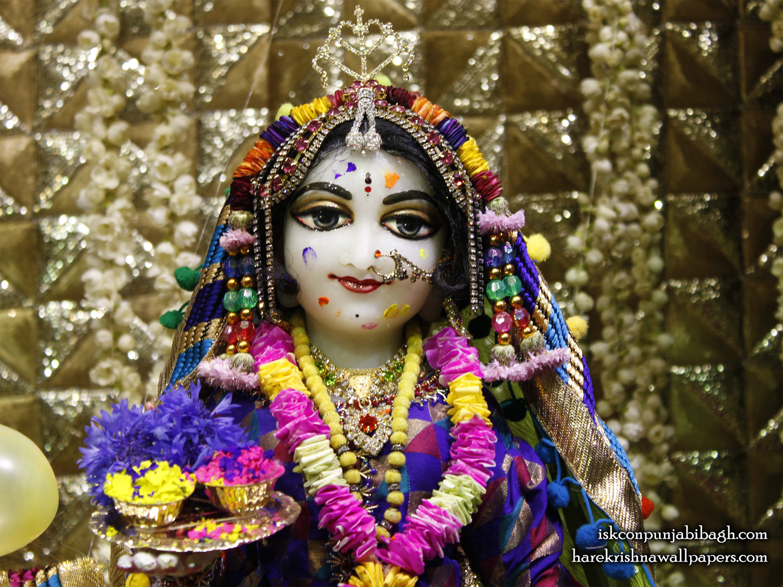 Sri Radha Close up Wallpaper (011) Size1600x1200 Download