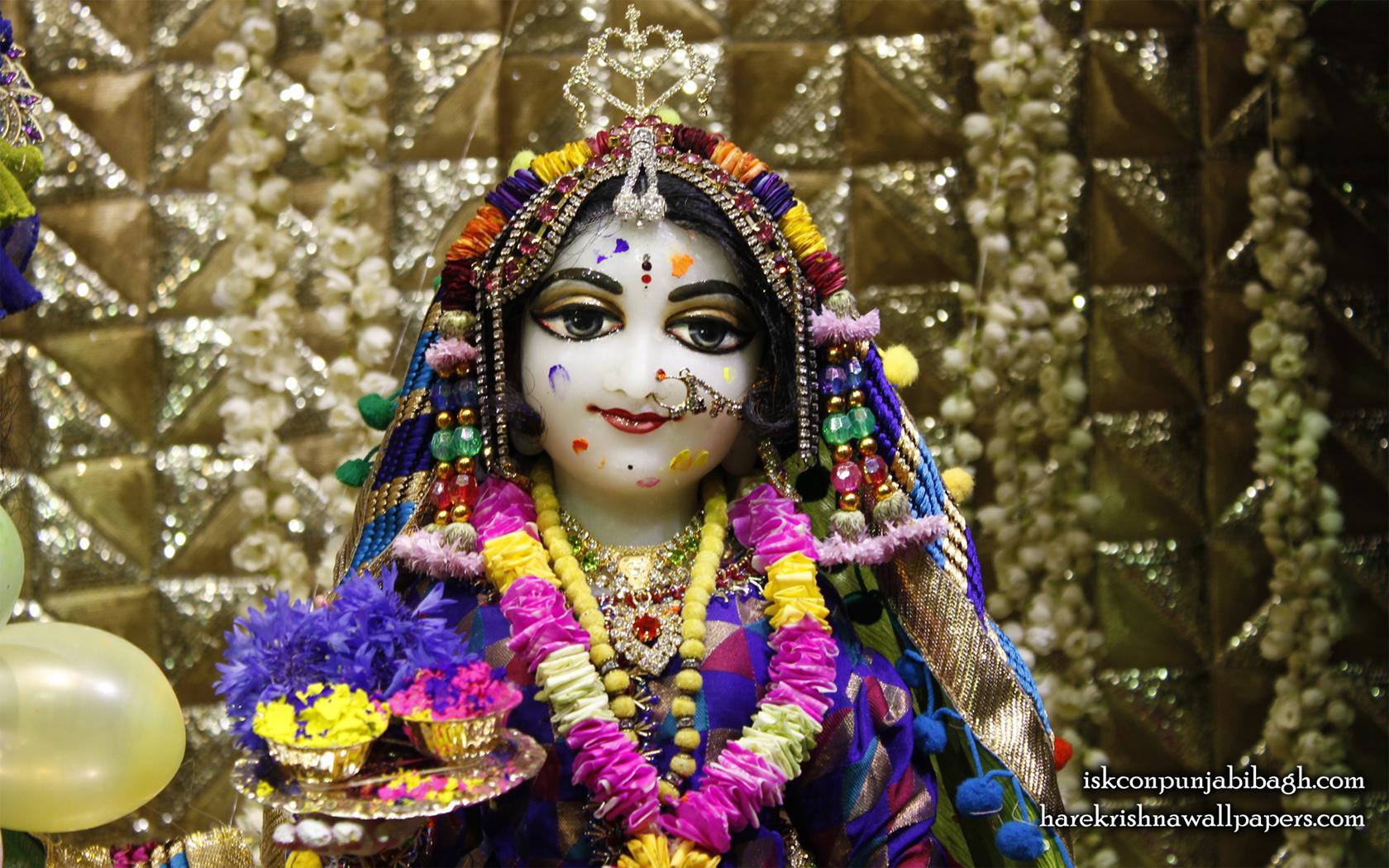 Sri Radha Close up Wallpaper (011) Size 1680x1050 Download