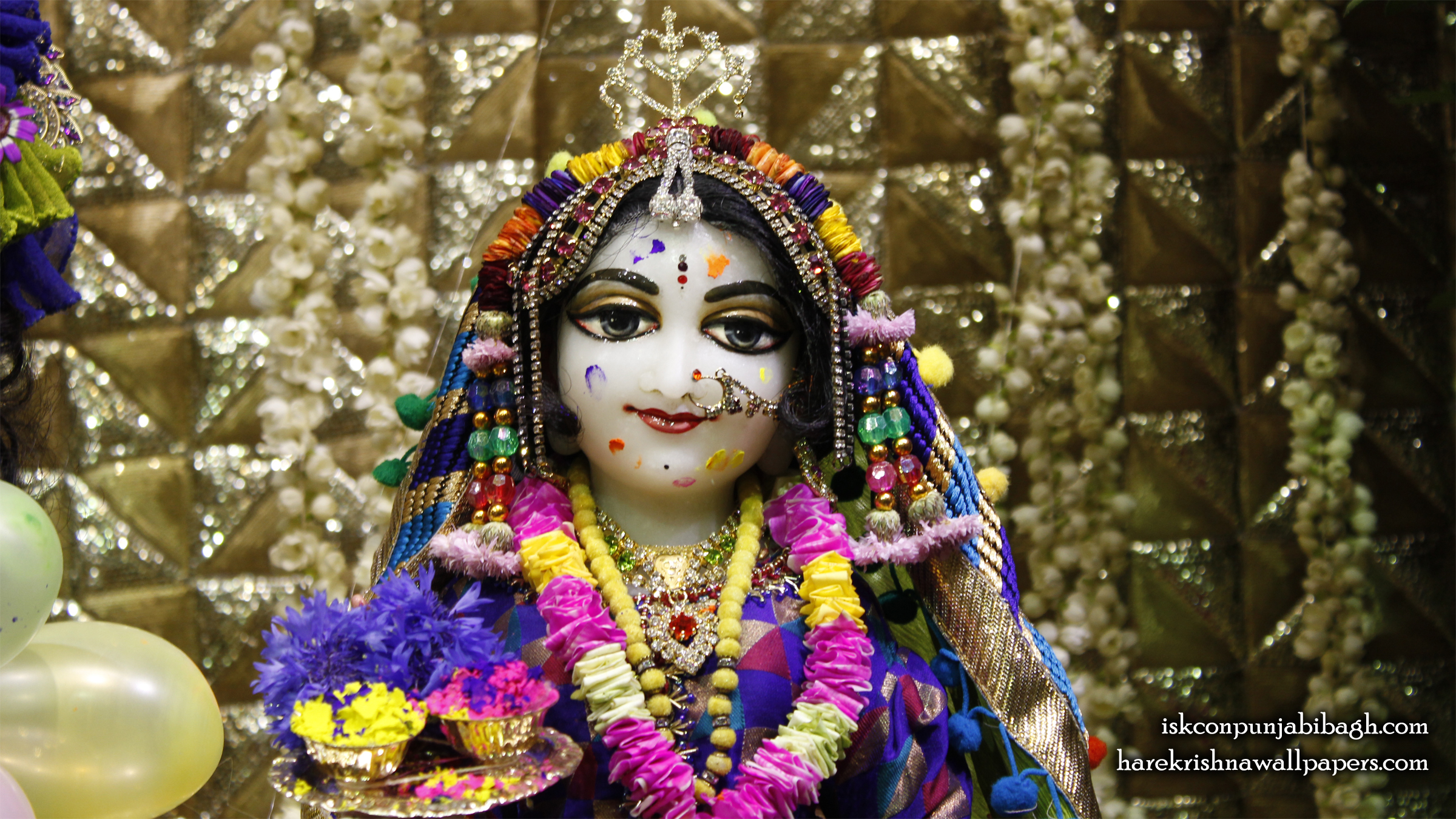 Sri Radha Close up Wallpaper (011) Size 2400x1350 Download