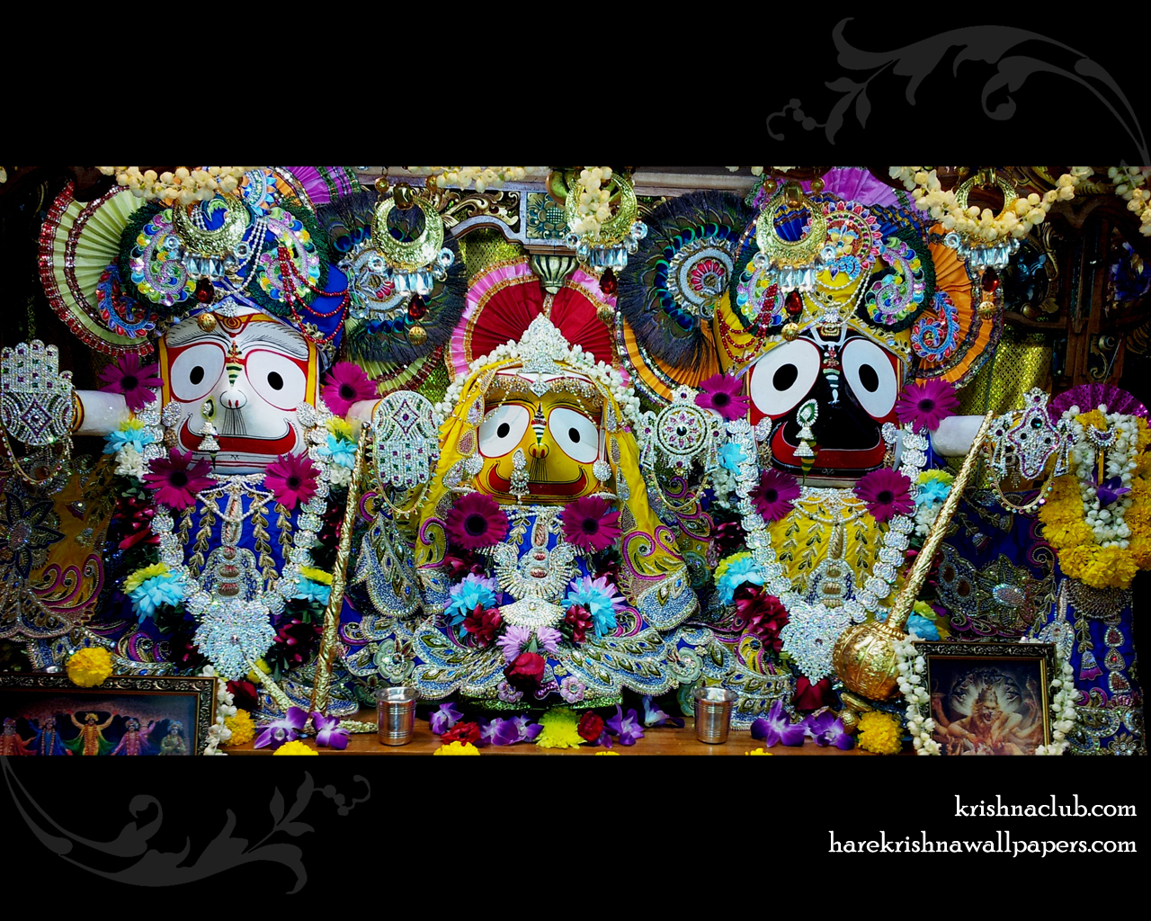 Jagannath Baladeva Subhadra Wallpaper (001) Size 1280x1024 Download