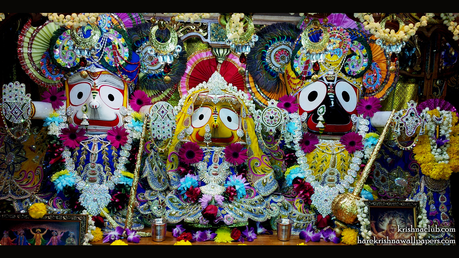 Jagannath Baladeva Subhadra Wallpaper (001) Size 1600x900 Download
