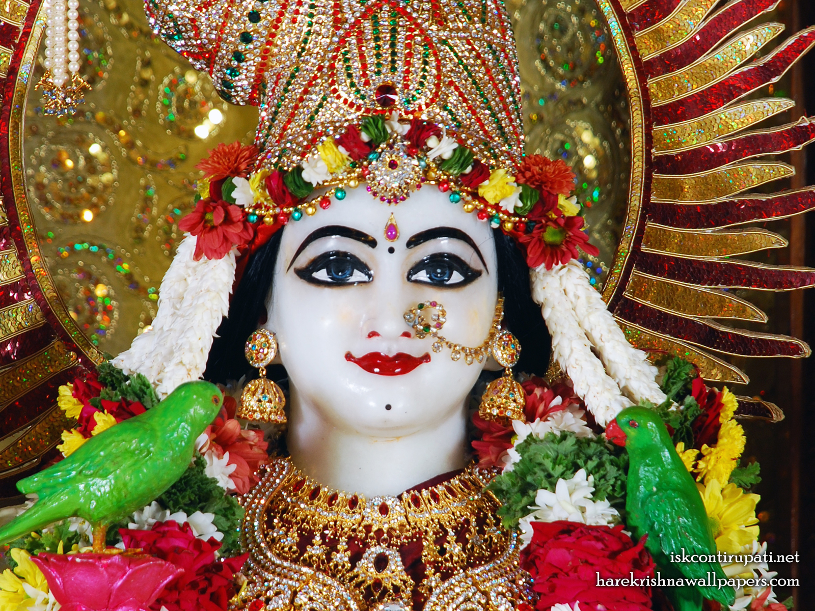 Sri Radha Close up Wallpaper (001) Size1600x1200 Download
