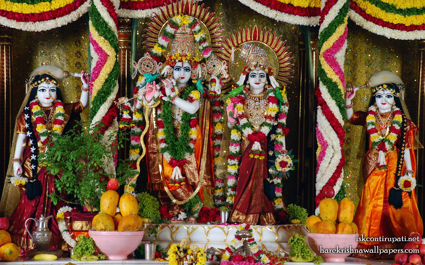 Sri Sri Radha Govinda Lalita Vishakha Wallpaper (001) Size 1680x1050 Download