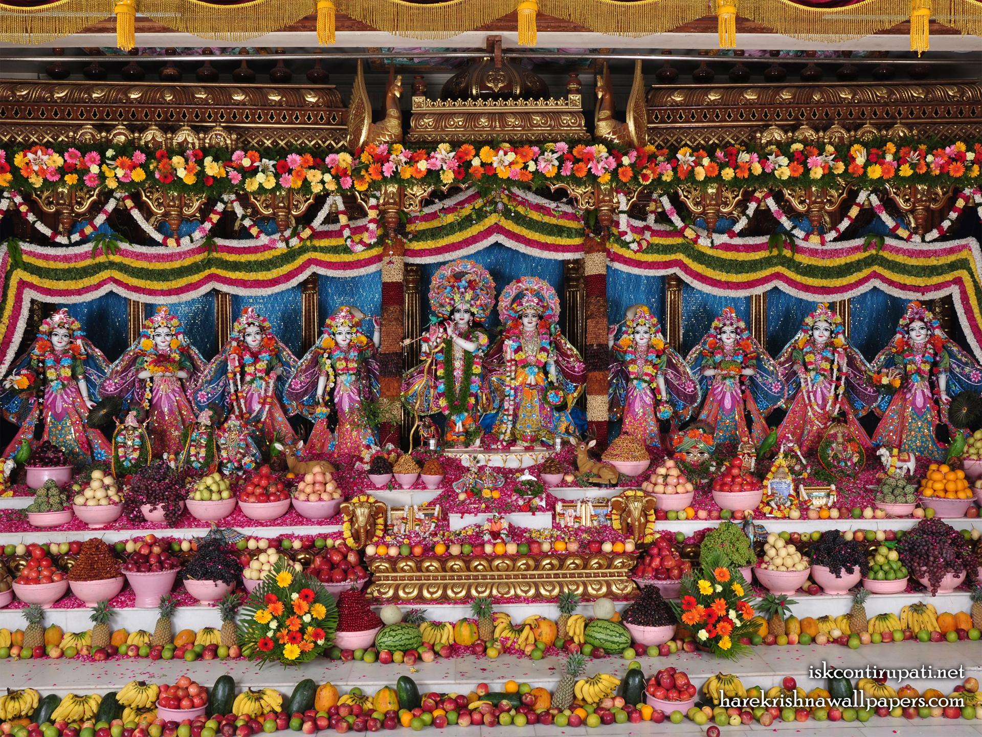 Sri Sri Radha Govinda with Ashtasakhi Wallpaper (001) Size 1920x1440 Download