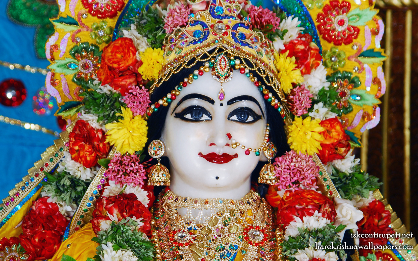 Sri Radha Close up Wallpaper (002) Size 1680x1050 Download