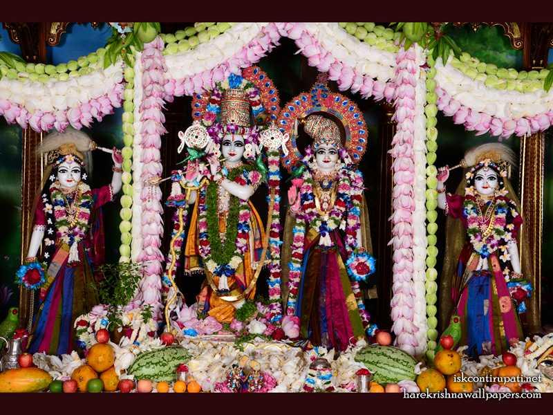 Sri Sri Radha Govinda Lalita Vishakha Wallpaper (002)