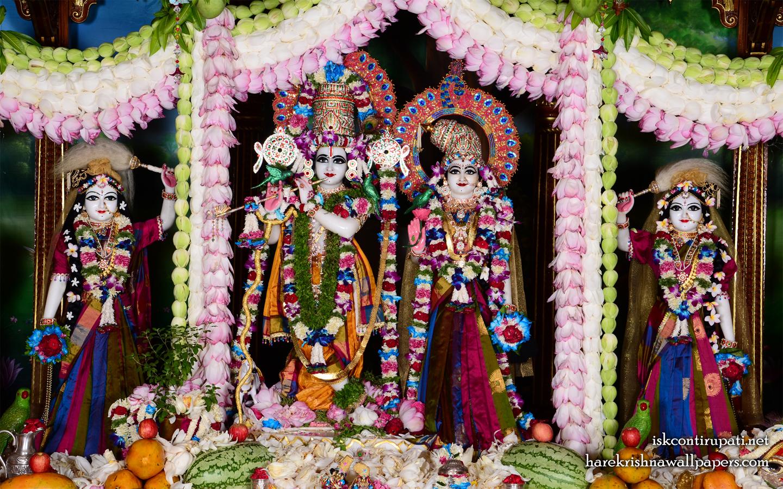 Sri Sri Radha Govinda Lalita Vishakha Wallpaper (002) Size 1440x900 Download