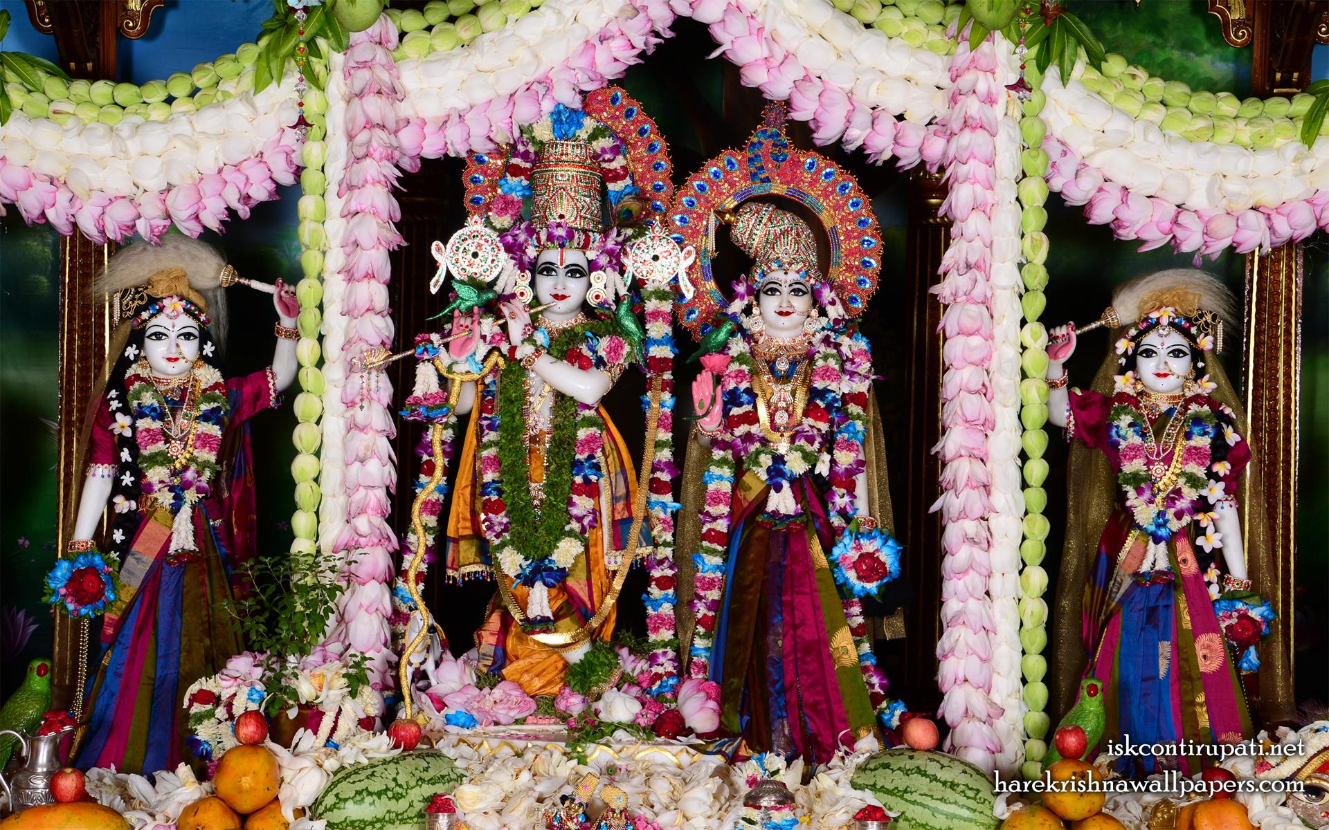 Sri Sri Radha Govinda Lalita Vishakha Wallpaper (002) Size 1920x1200 Download