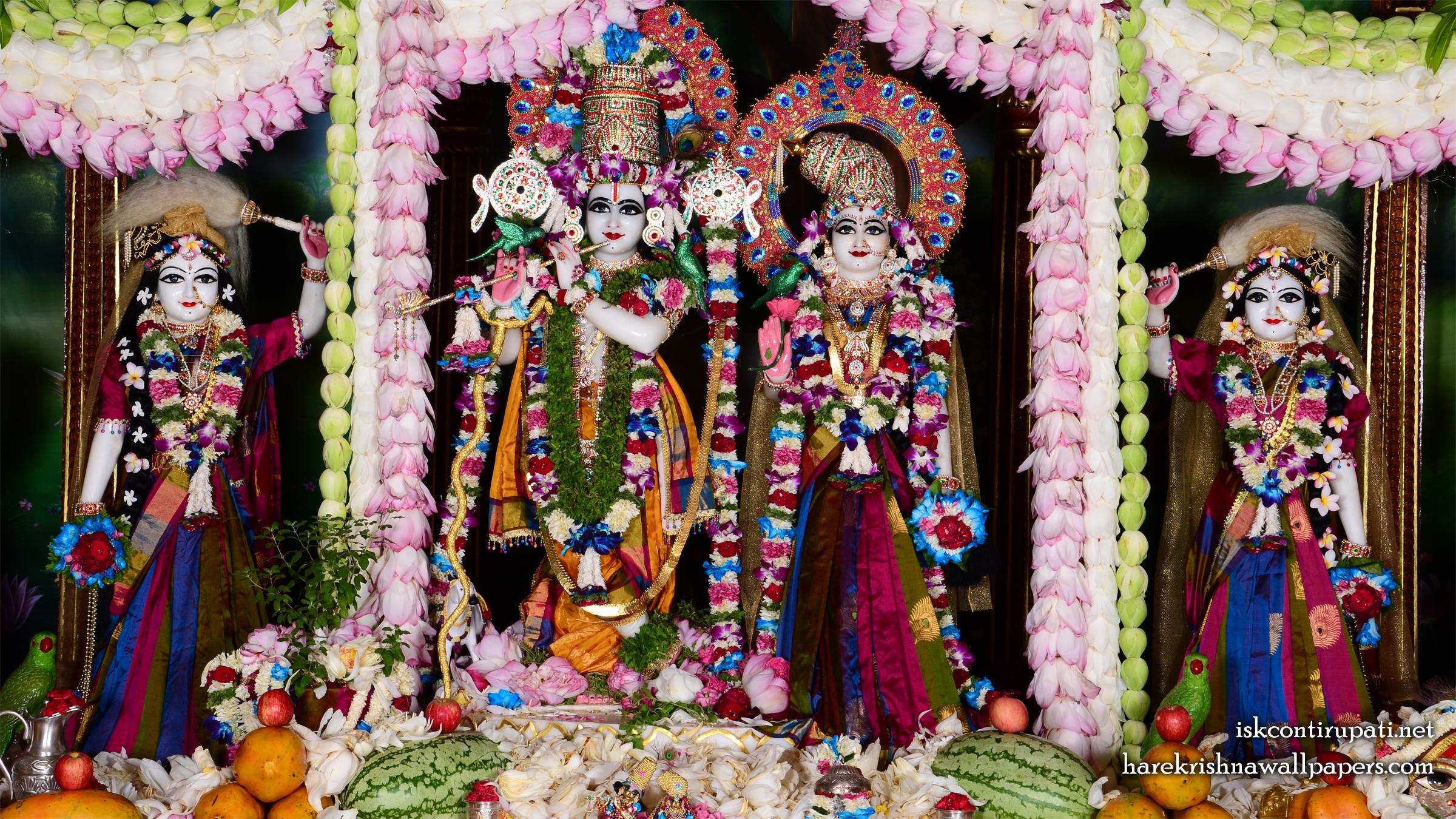Sri Sri Radha Govinda Lalita Vishakha Wallpaper (002) Size 2400x1350 Download