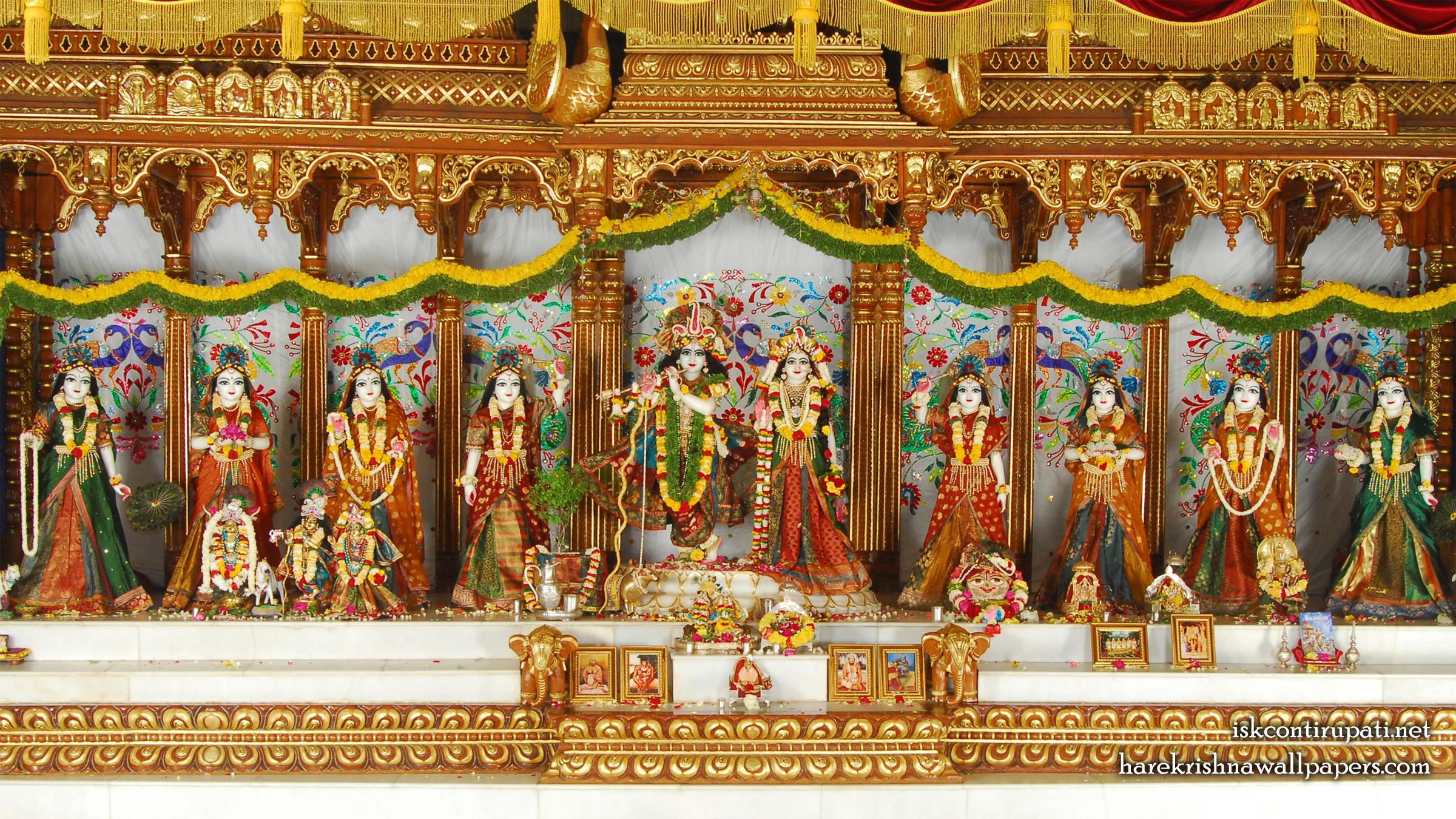 Sri Sri Radha Govinda with Ashtasakhi Wallpaper (002) Size 2400x1350 Download