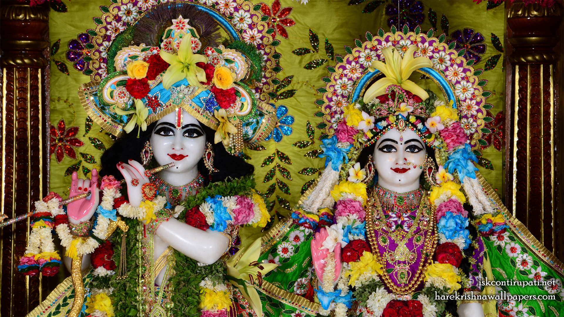 Sri Sri Radha Govinda Close up Wallpaper (003) Size 1920x1080 Download