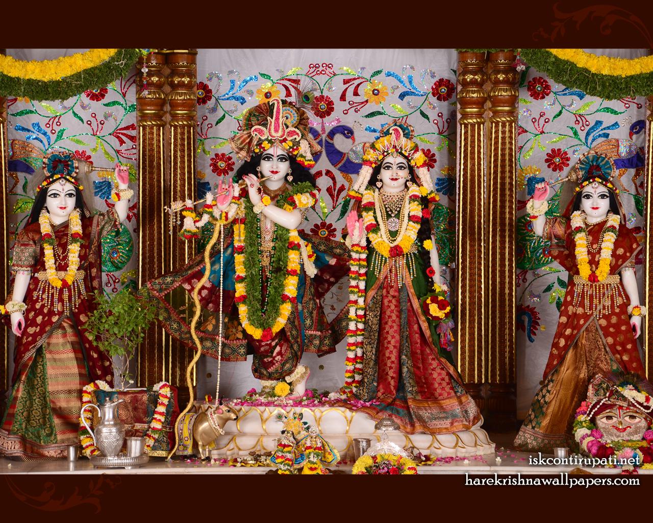 Sri Sri Radha Govinda Lalita Vishakha Wallpaper (003) Size 1280x1024 Download