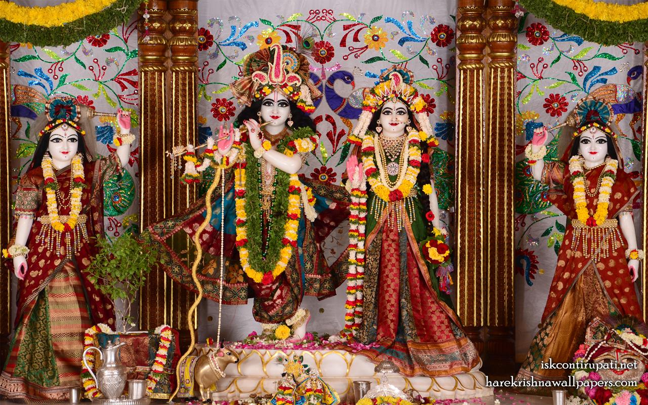 Sri Sri Radha Govinda Lalita Vishakha Wallpaper (003) Size 1280x800 Download