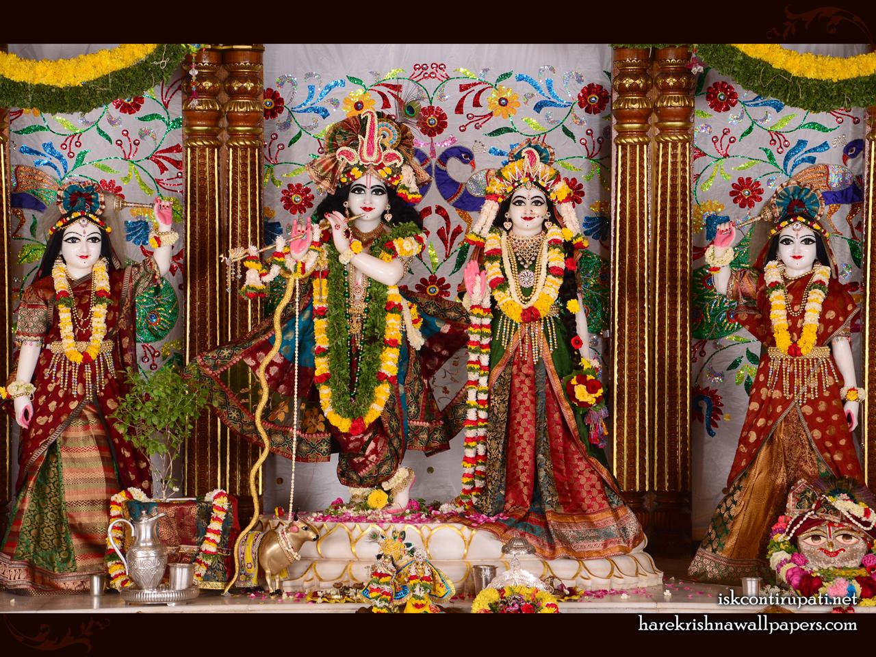 Sri Sri Radha Govinda Lalita Vishakha Wallpaper (003) Size 1280x960 Download