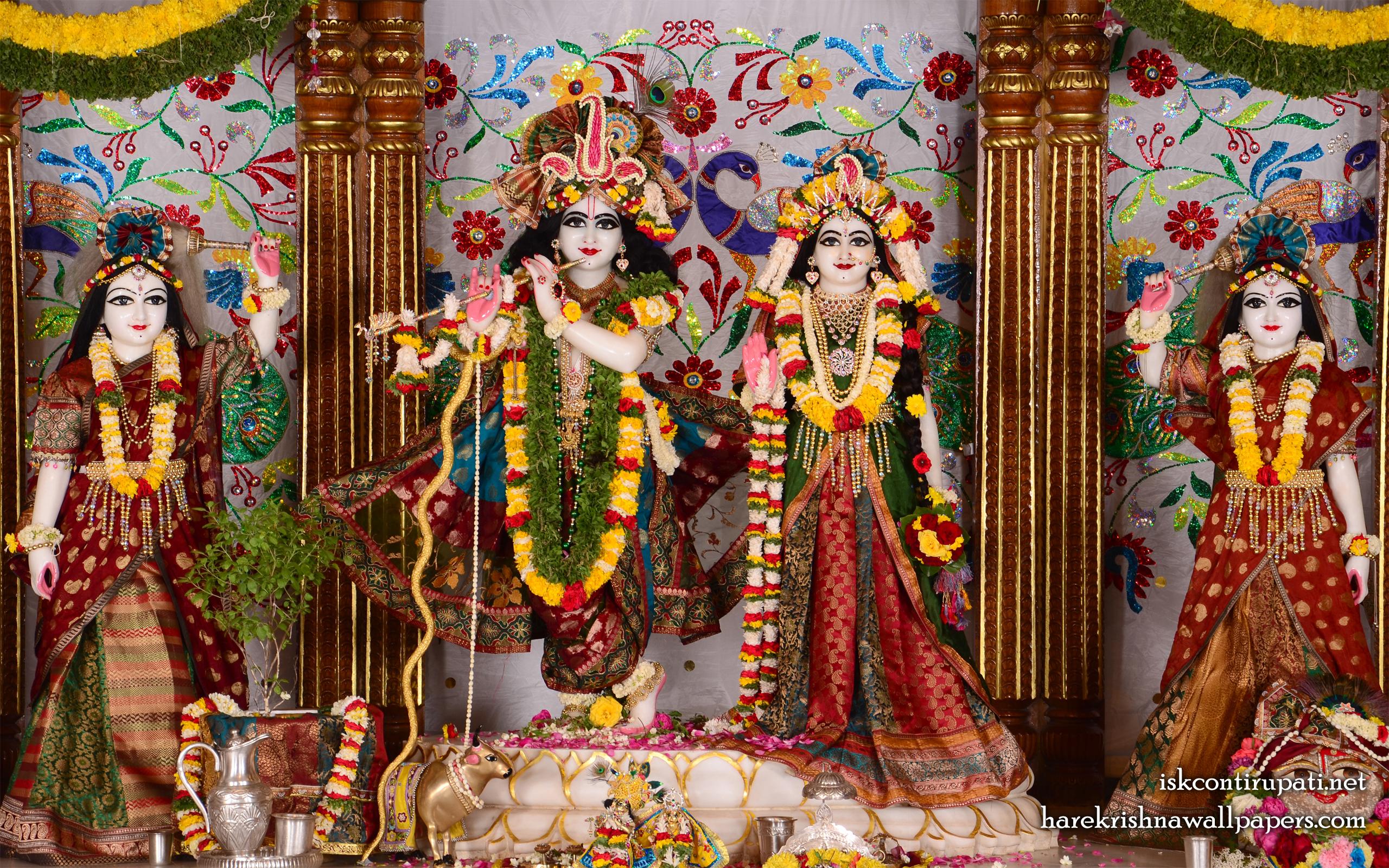 Sri Sri Radha Govinda Lalita Vishakha Wallpaper (003) Size 2560x1600 Download