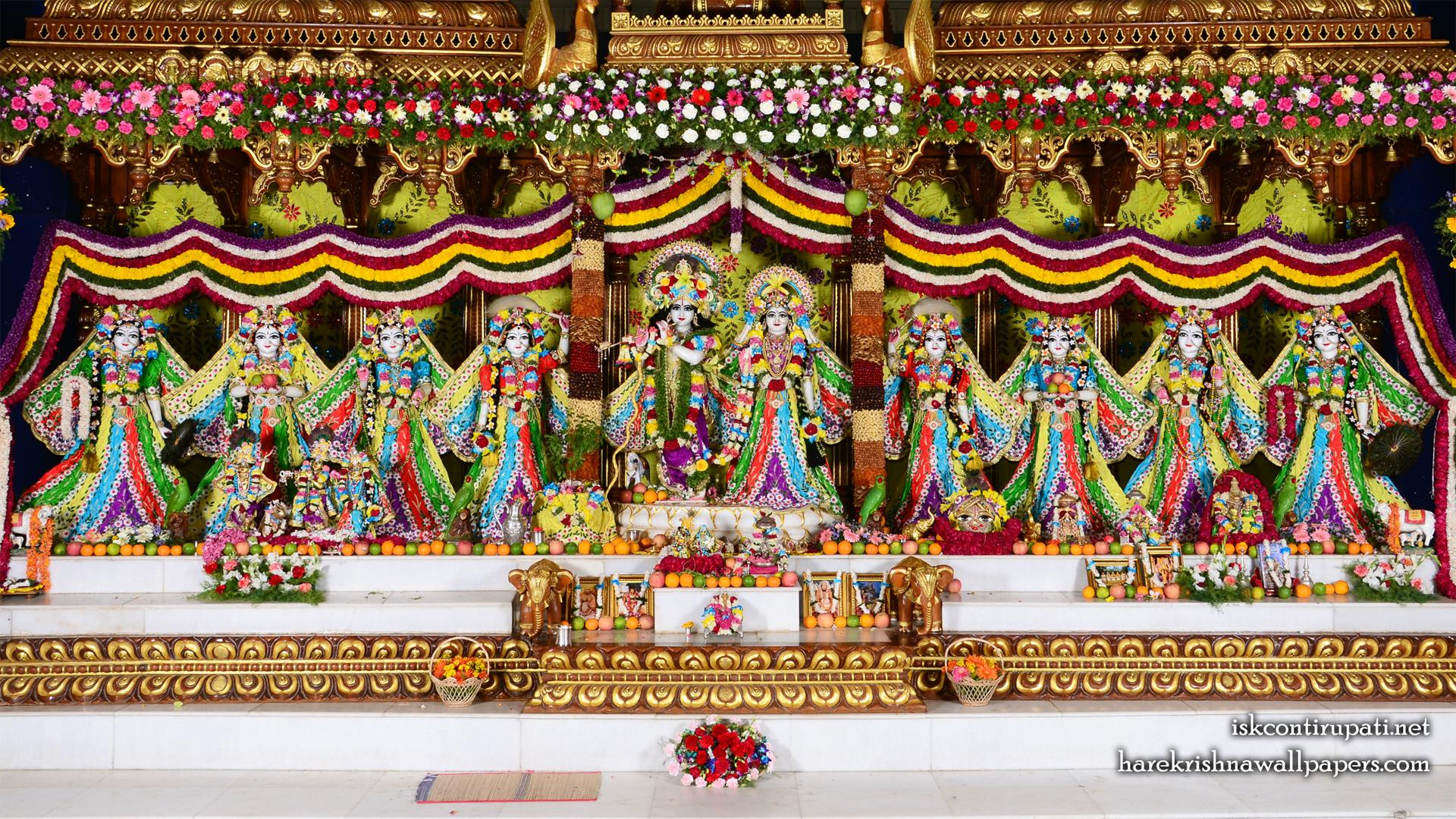 Sri Sri Radha Govinda with Ashtasakhi Wallpaper (003) Size 1920x1080 Download