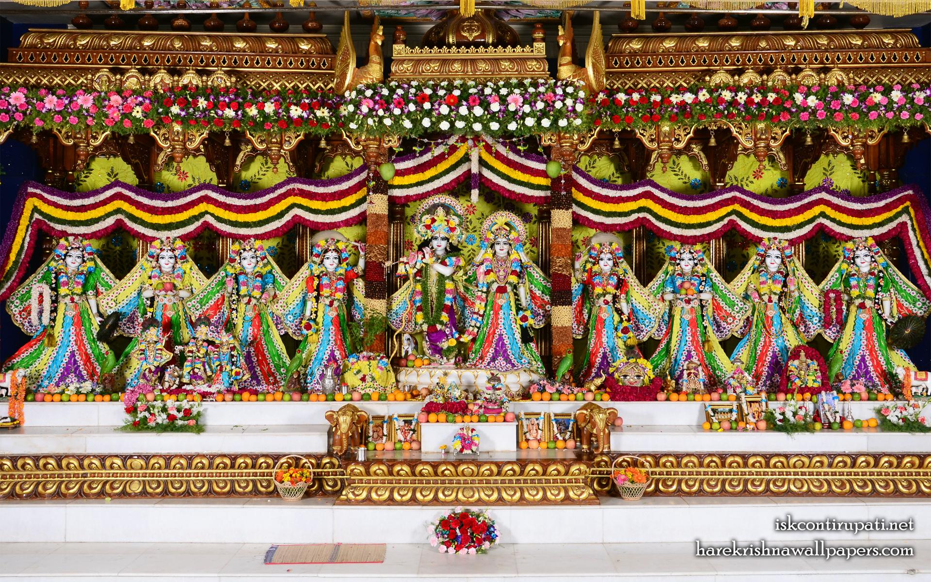 Sri Sri Radha Govinda with Ashtasakhi Wallpaper (003) Size 1920x1200 Download
