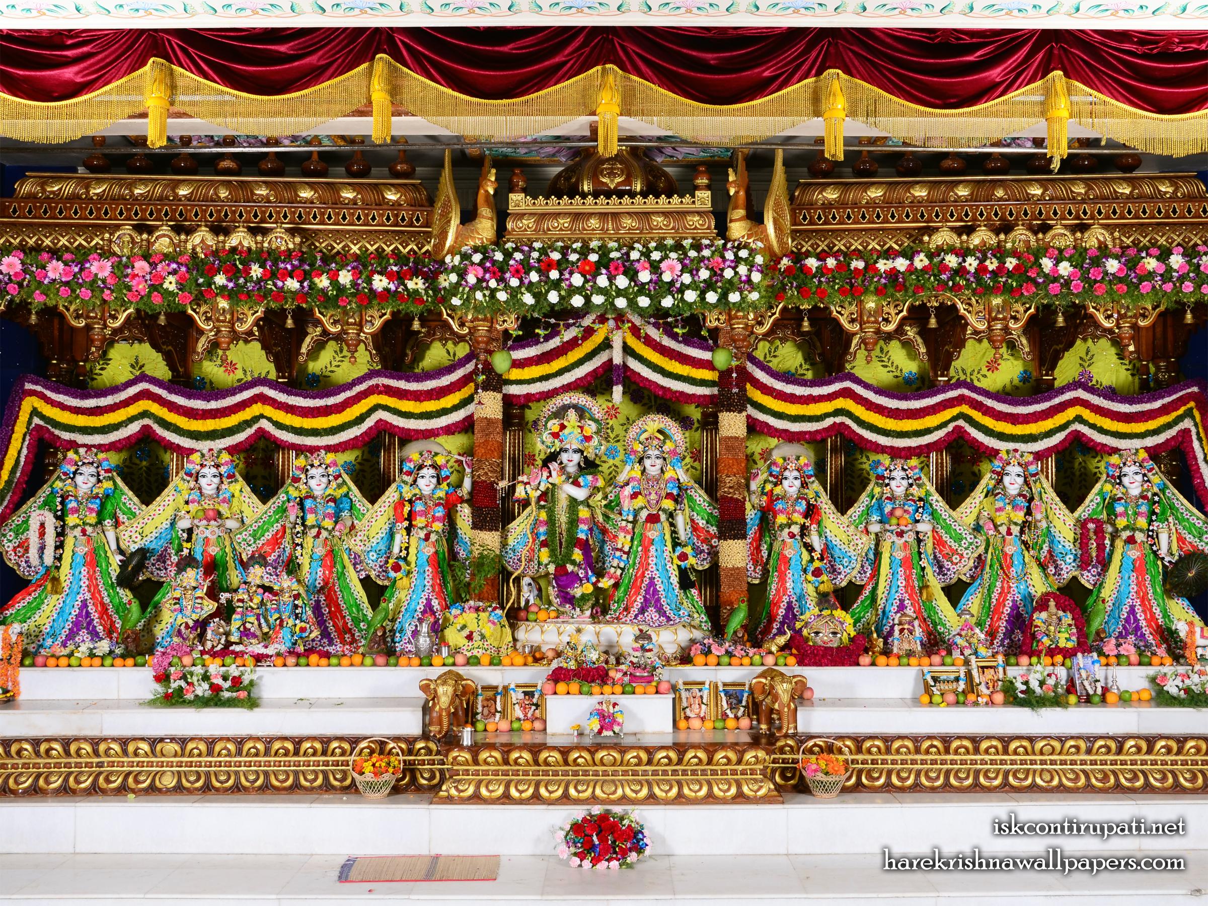 Sri Sri Radha Govinda with Ashtasakhi Wallpaper (003) Size 2400x1800 Download
