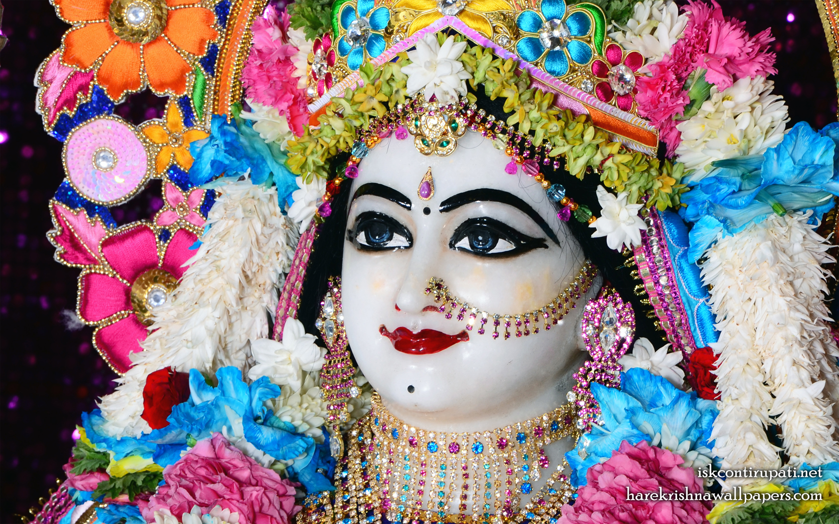 Sri Radha Close up Wallpaper (004) Size 1680x1050 Download