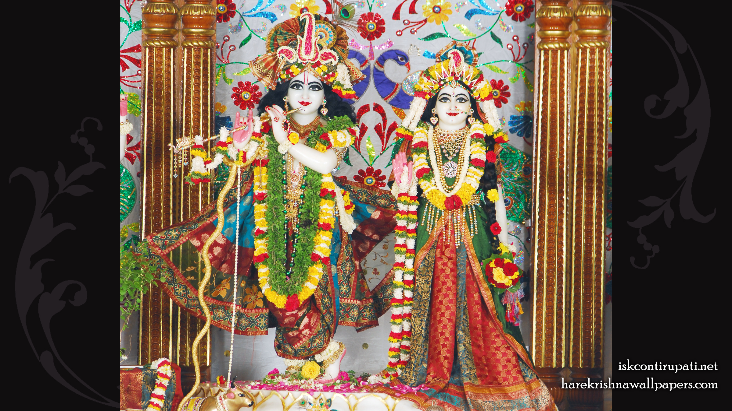 Sri Sri Radha Govinda Wallpaper (004) Size 2400x1350 Download