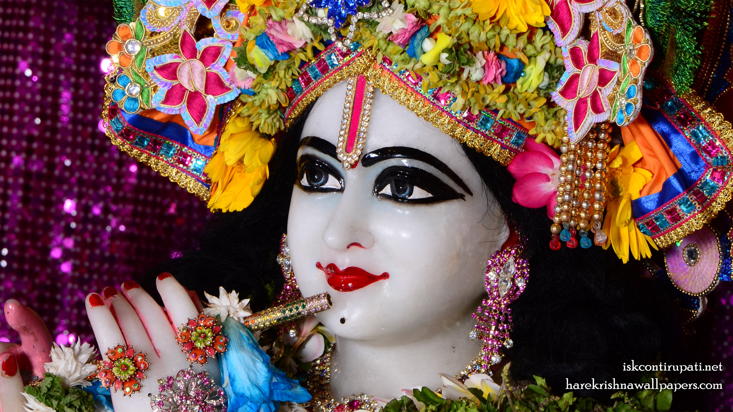 Sri Govinda Close up Wallpaper (005) Size 2400x1350 Download