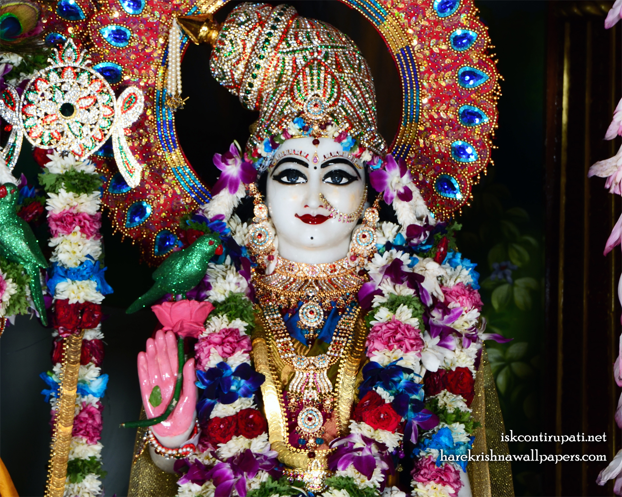 Sri Radha Close up Wallpaper (005) Size 1280x1024 Download