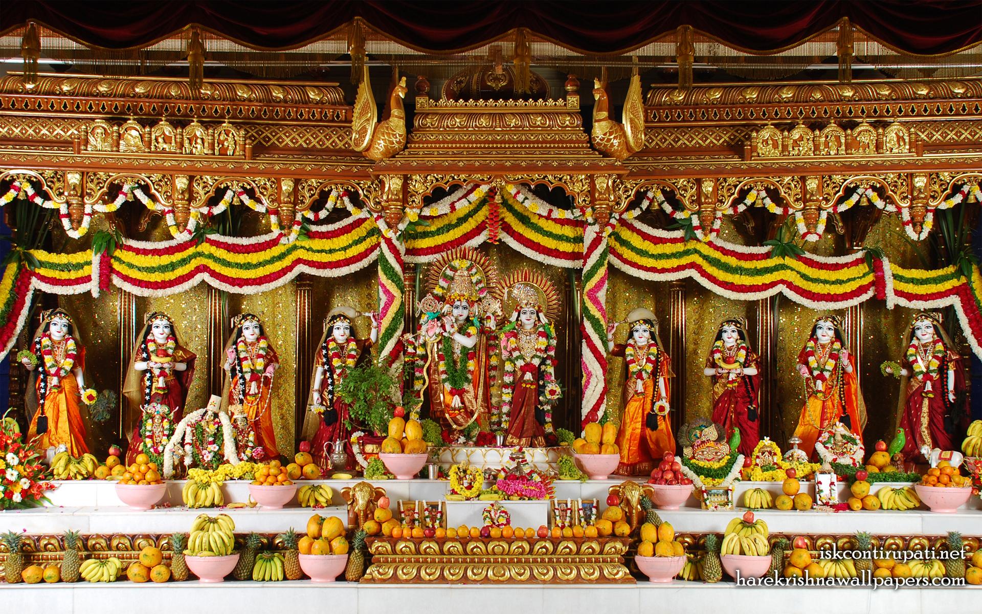 Sri Sri Radha Govinda with Ashtasakhi Wallpaper (005) Size 1920x1200 Download