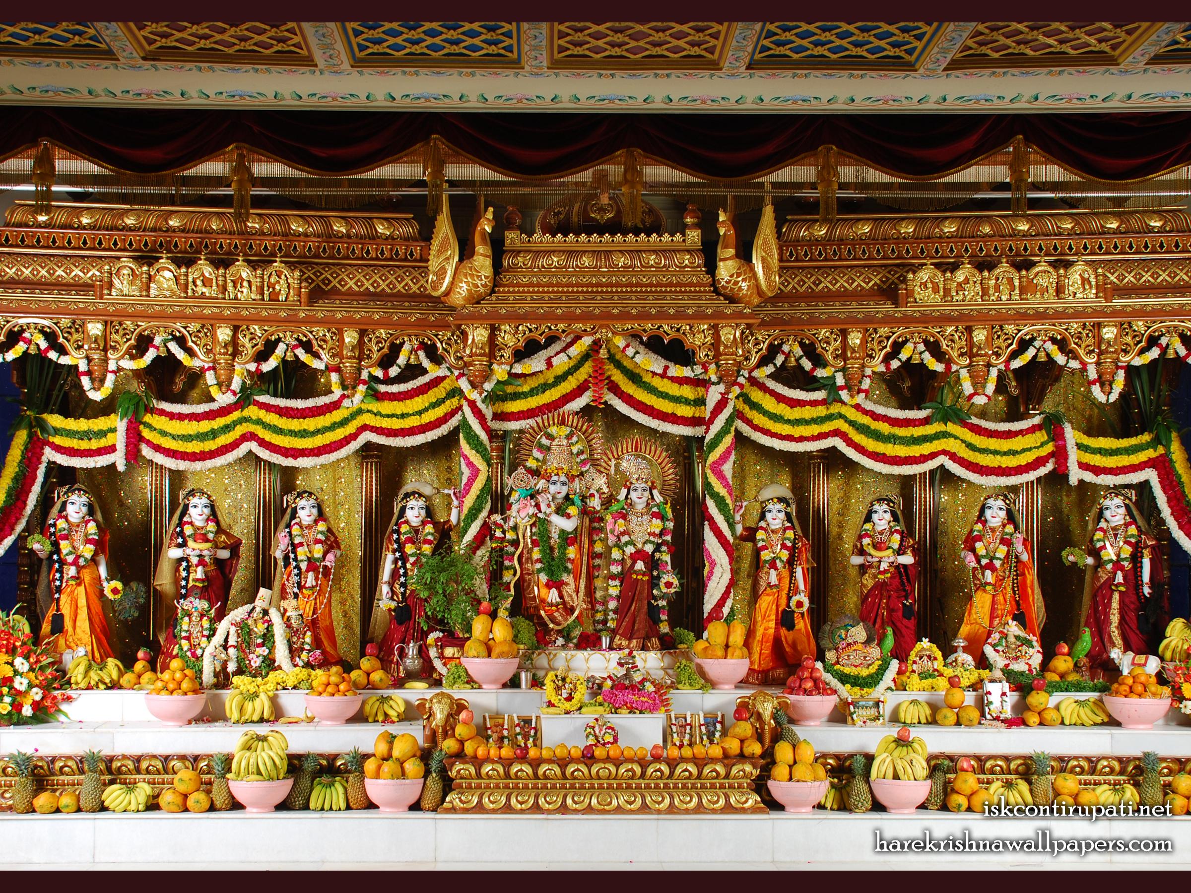 Sri Sri Radha Govinda with Ashtasakhi Wallpaper (005) Size 2400x1800 Download