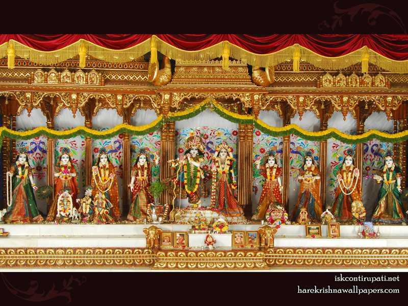 Sri Sri Radha Govinda with Ashtasakhi Wallpaper (006)