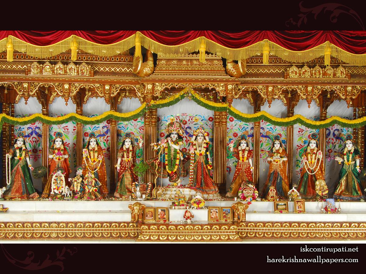 Sri Sri Radha Govinda with Ashtasakhi Wallpaper (006) Size 1200x900 Download