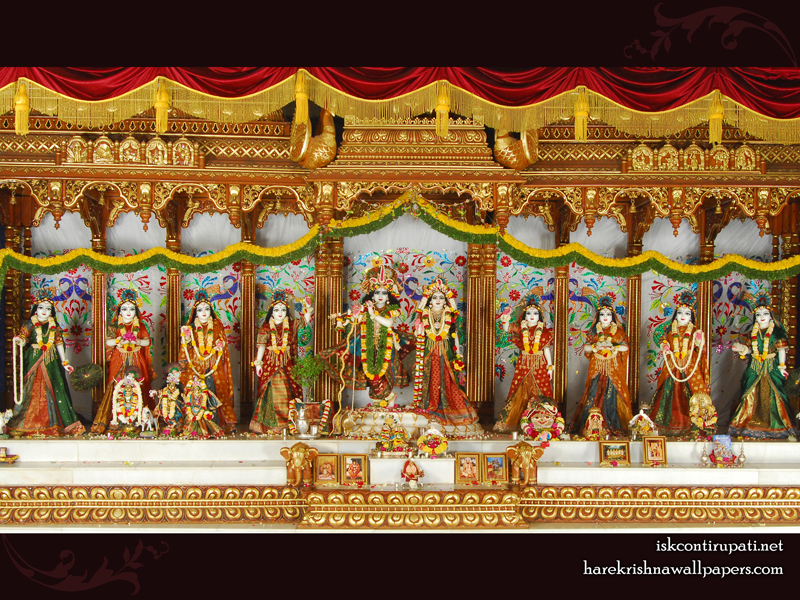 Sri Sri Radha Govinda with Ashtasakhi Wallpaper (006) Size 800x600 Download
