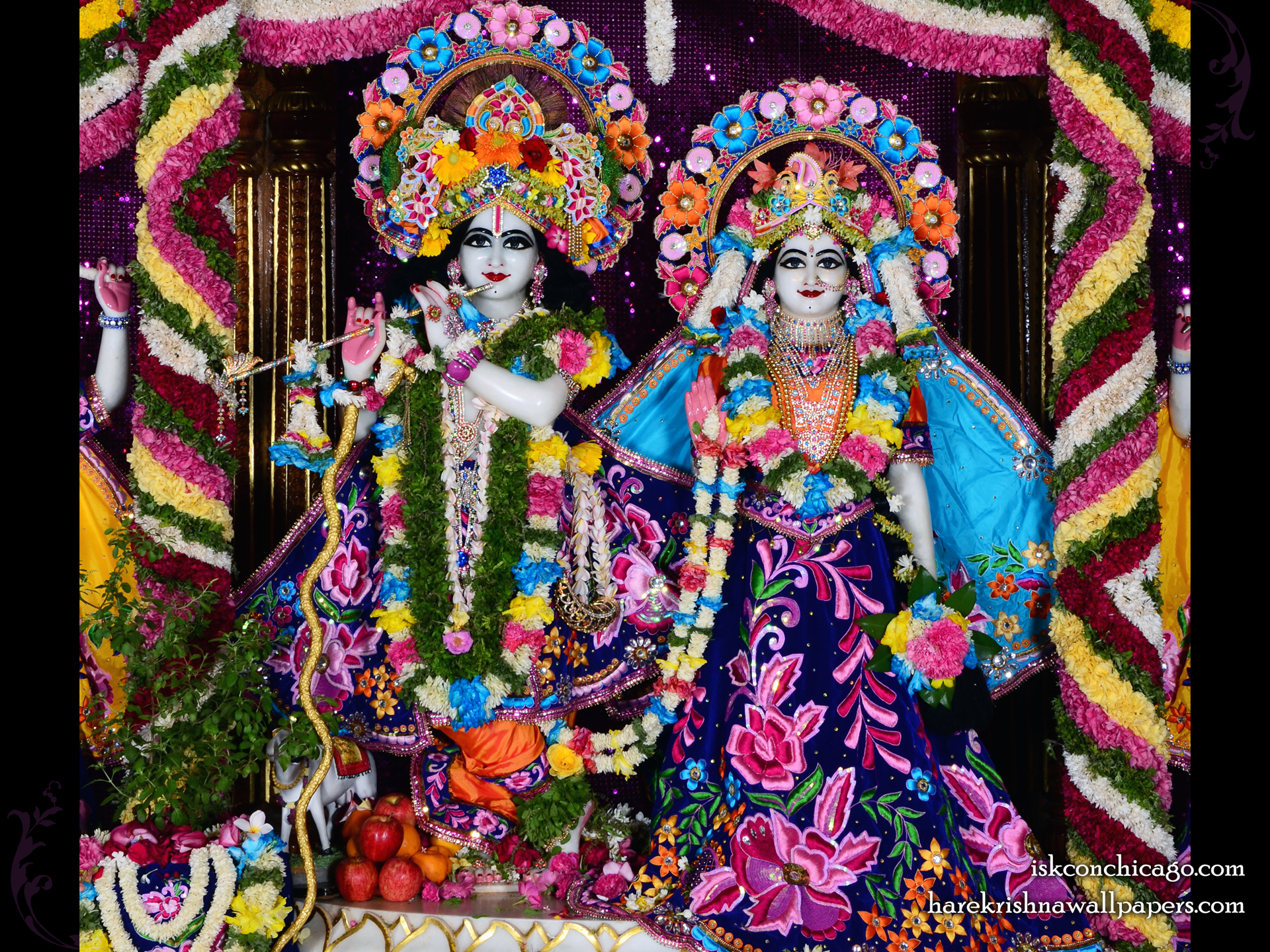 Sri Sri Radha Govinda Wallpaper (007) Size 1920x1440 Download