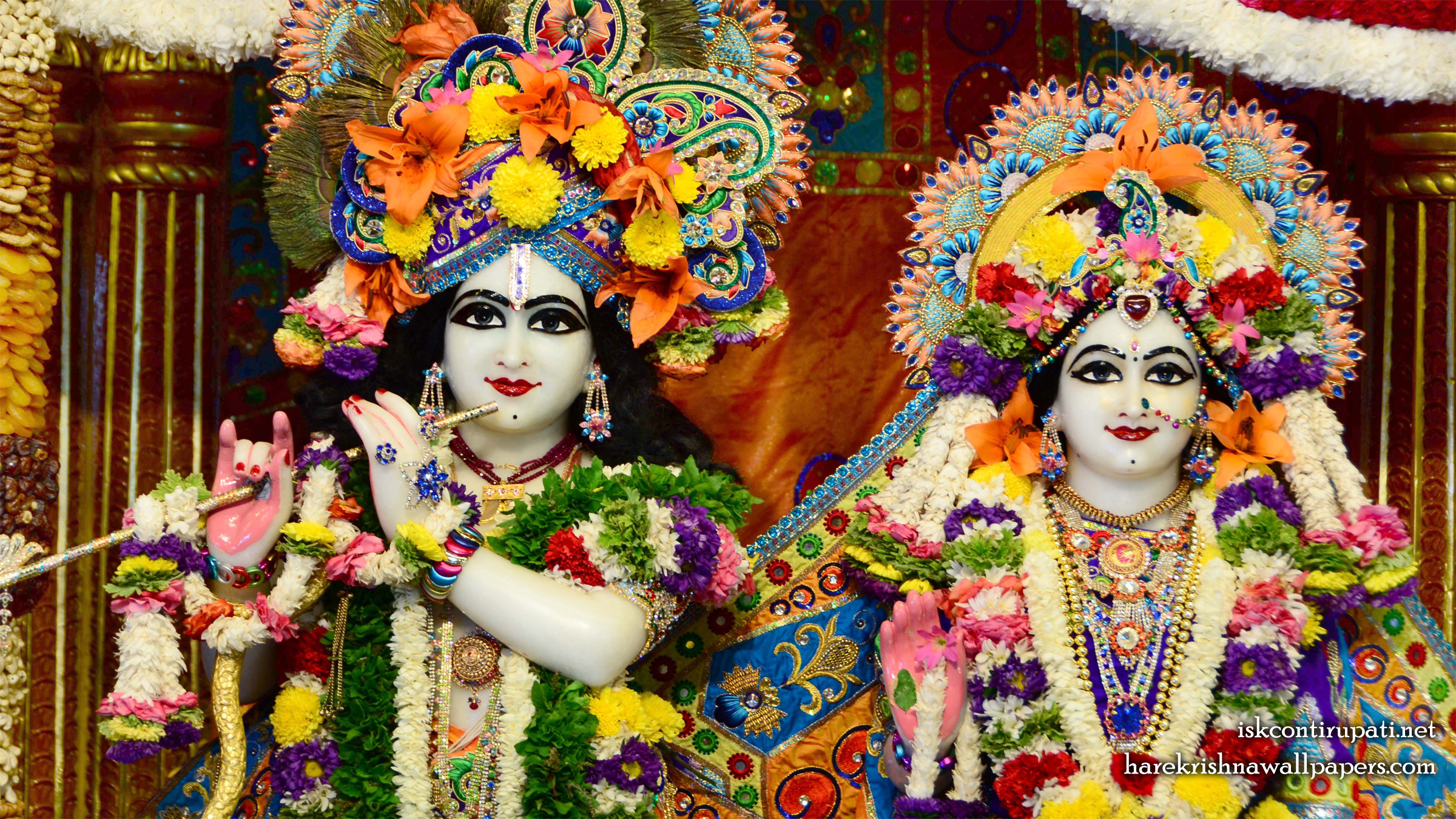 Sri Sri Radha Govinda Close up Wallpaper (007) Size 2400x1350 Download